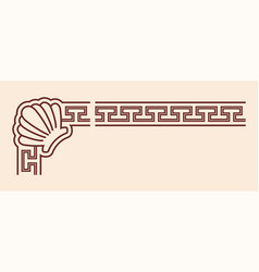 Ancient greek ornament vector