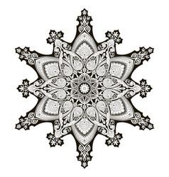 Arabic floral pattern motif vector