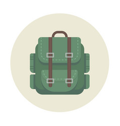 backpack camping icon for outdoor travel vector image