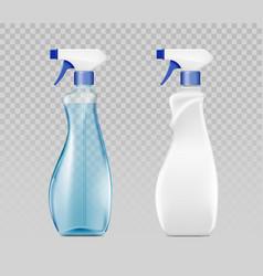 blank plastic spray detergent bottle packaging vector image