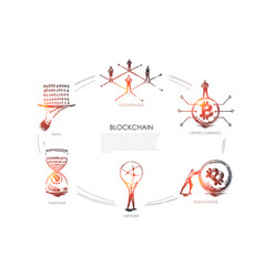 blockchain decentralized crypto currency vector image