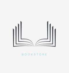 book icons sign for your company vector image