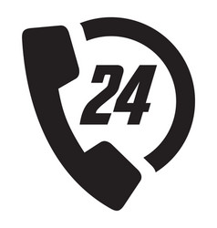 call 24 icon vector image