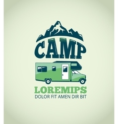 Camping wilderness adventure background vector