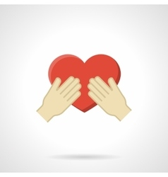 Cherish the love flat color icon vector image