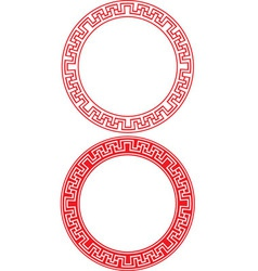 Chinese Circle Ornament vector image