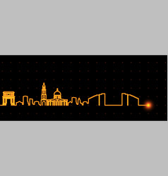 Chisinau light streak skyline vector