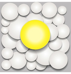 Circles 3D and shadows over grey background vector