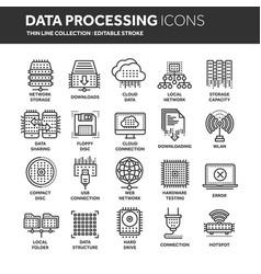 cloud computing internet technology online vector image