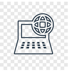 computer and network concept linear icon isolated vector image