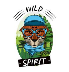 cool wild animal print for t shirt vector image