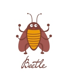Cute colorful beetle character vector