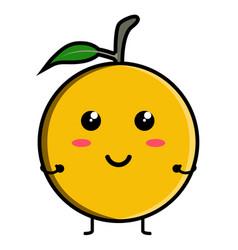 cute orange emoticon vector image