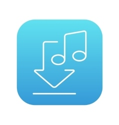 Download music line icon vector image