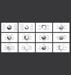 editable circle infographic template for cycle vector image