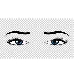 Eyes hand drawn female luxury eye with vector