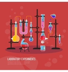 Flask chemistry equipment for laboratory or lab vector image