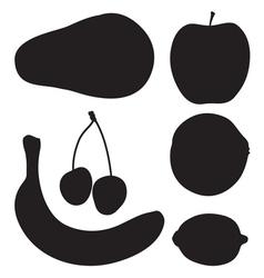Fruit silhouette2 vector
