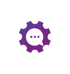 gear chat consult support logo icon stock vector image
