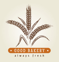Good bakery logo with wheat ears vector