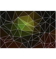 Green brown yellow black geometric background vector