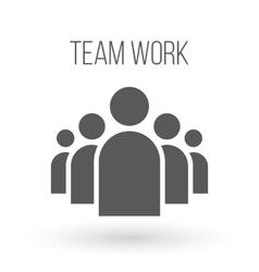 group people business icon team work vector image