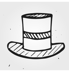 hat funnyman hand drawn vector image