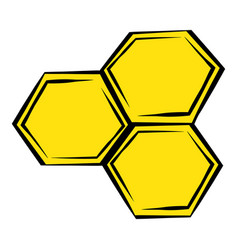 honeycomb icon icon cartoon vector image