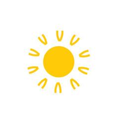 letter v sun light simple symbol logo vector image