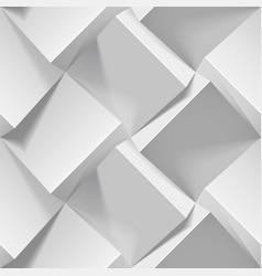 Light seamless geometric pattern realistic 3d vector