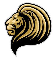 Lions head mascot vector