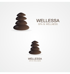 Logo stone for spa company vector image