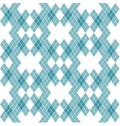Mint blue green tartan vintage background vector