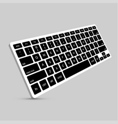 Modern computer keyboard background vector