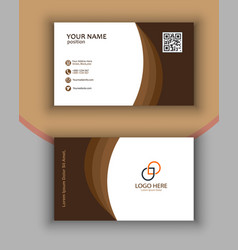 Personal business card print ready free vector