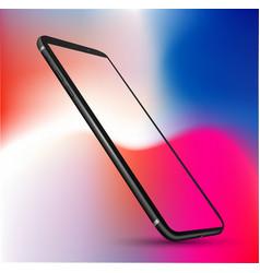Perspective smartphone mockup vector