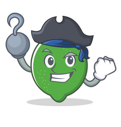 Pirate lime character cartoon style vector
