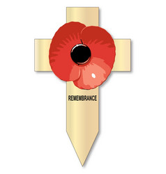 Poppy cross vector
