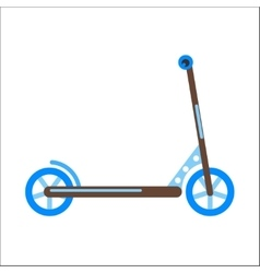 Push kick scooter vector