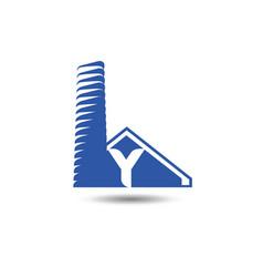 real estate logo template letter y logo vector image