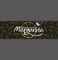 Restaurant or cocktail bar horizontal banner vector