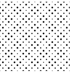 seamless circle pattern background - monochrome vector image