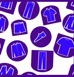 seamless pattern of mens clothing icons vector image