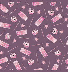 seamless pattern paints and brushes in the vector image