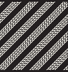 Seamless rounded interlacing lines pattern vector