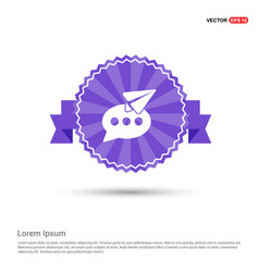 send message icon - purple ribbon banner vector image