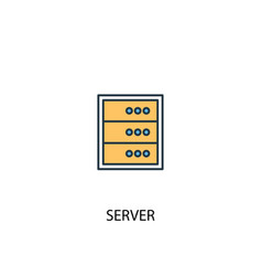 server concept 2 colored line icon simple yellow vector image