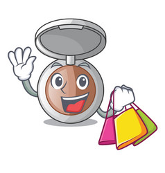 Shopping powder makeup isolated in the mascot vector