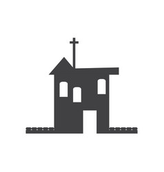 silhouette of a church vector image