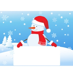 snowman 4 vector image vector image